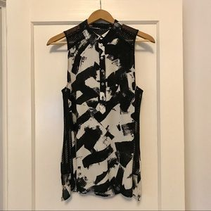 L.A.M.B Tank Blouse with Collar Size M.